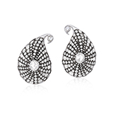 PAIR OF PAISLEY DIAMOND EARRINGS -    - Fine Jewels: Ode to Nature