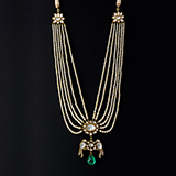 PEARL, DIAMOND AND EMERALD NECKLACE -    - Fine Jewels: Ode to Nature
