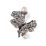 DIAMOND AND PEARL BROOCH -    - Fine Jewels: Ode to Nature