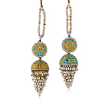 PAIR OF GEMSET JHUMKI EARRINGS -    - Fine Jewels: Ode to Nature