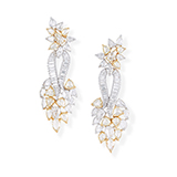 PAIR OF DIAMOND EARRINGS -    - Fine Jewels: Ode to Nature