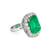 COLOMBIAN EMERALD AND DIAMOND RING -    - Fine Jewels: Ode to Nature