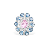 KUNZITE, AQUAMARINE AND DIAMOND RING -    - Fine Jewels: Ode to Nature