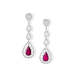 PAIR OF RUBELLITE TOURMALINE AND DIAMOND EARRINGS -    - Fine Jewels: Ode to Nature