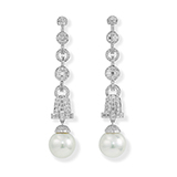 PAIR OF PEARL AND DIAMOND EARRINGS -    - Fine Jewels: Ode to Nature