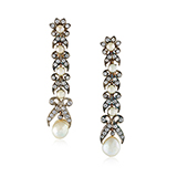 PAIR OF DIAMOND AND PEARL EARRINGS -    - Fine Jewels: Ode to Nature