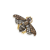 COLOURED DIAMOND 'BEE' BROOCH -    - Fine Jewels: Ode to Nature