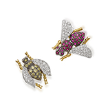 SET OF TWO BEE PINS -    - Fine Jewels: Ode to Nature