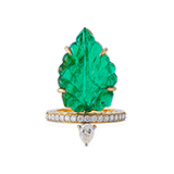 EMERALD AND DIAMOND RING -    - Fine Jewels: Ode to Nature