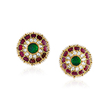 PAIR OF GEMSET KARNPHOOL EARRINGS -    - Fine Jewels: Ode to Nature