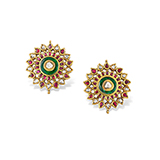 GEMSET KARNPHOOL EARRINGS -    - Fine Jewels: Ode to Nature