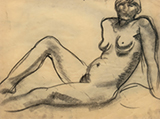Female Nude - Amrita  Sher-Gil - Art Rises for Kerala Live Fundraiser Auction
