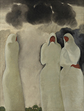 Shrouded Woman - B C Sanyal - Spring Online Auction