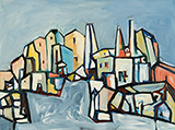 Untitled (Townscape) - Sadanand  Bakre - Spring Online Auction