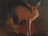 Untitled (Deer) - Govind Madhav  Solegaonkar - Winter Online Auction