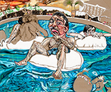 The Lazy River - Schandra  Singh - Winter Online Auction
