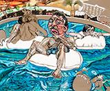 The Lazy River - Schandra  Singh - Winter Online Auction