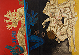 Battle of Ganga and Jamuna: Mahabharata 12 - M F Husain - Spring LIVE Auction | Mumbai, Live