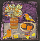 Still Life with Birds - Badri  Narayan - WORKS ON PAPER