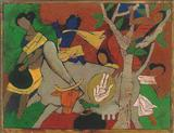 M F Husain-Untitled