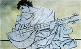 M F Husain-Veena Player
