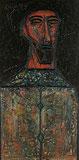 F N Souza-Head of a Man