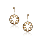 -A PAIR OF DIAMOND AND GOLD 'GOTHIKA' EARRINGS