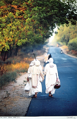 Jain Monks Walking, Patan