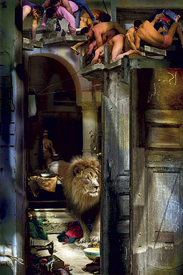 Lion and the Milk Bowl