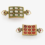 -A MAGNIFICIENT PAIR OF 'BAJUBANDS' OR ARM ORNAMENTS