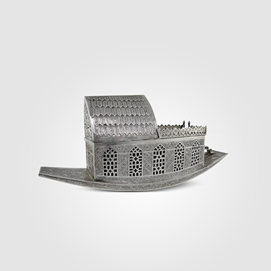 Kashmir Houseboat Pan Box with Fitted Interior and Tray