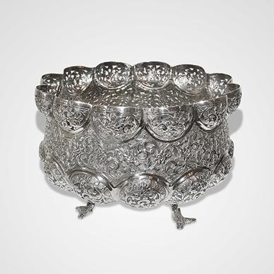 "Lucknow Pierced Bowl in the ""Cutch Pattern"""