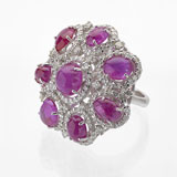 -A RUBY AND DIAMOND RING