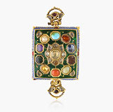 -A GEMSET 'BAJUBAND' OR ARM ORNAMENT