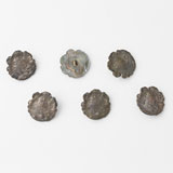 -A SET SIX SILVER BUTTONS