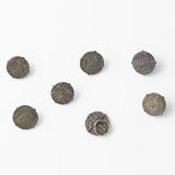-A SET OF SIX SILVER BUTTONS