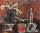 Lancelot  Ribeiro-Still Life with Vase