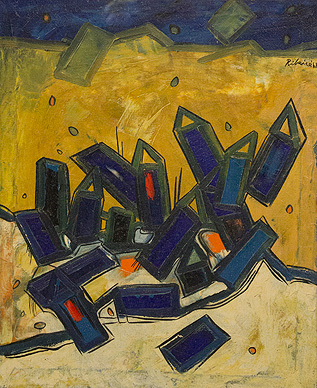 Untitled (Blue and Yellow Landscape)