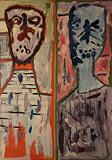 Lancelot  Ribeiro-Untitled (Two Heads)