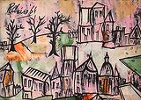 Lancelot  Ribeiro-Untitled (Pink Landscape)