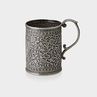 SILVER TANKARD BY OOMERSI MAWJI & CO.