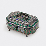 -SILVER ENAMELLED BOX