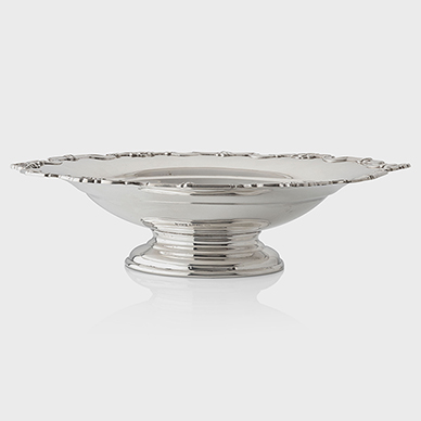 SILVER FRUIT BOWL BY MAPPIN AND WEBB