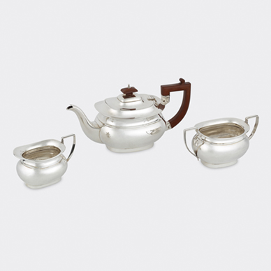 SILVER TEA SERVICE BY DEAKIN AND FRANCIS LTD.