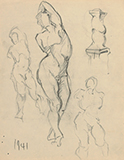 F N Souza-Untitled (Male nude studies)