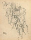 F N Souza-Untitled (Male nudes)