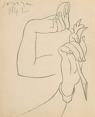 Untitled (Study for hands)