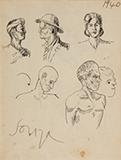 F N Souza-Untitled (Figures)