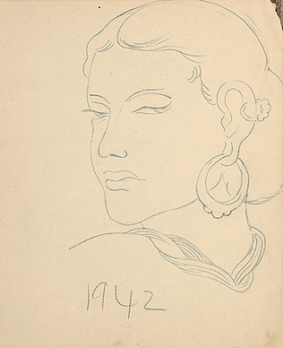 Untitled (Woman with Earring)