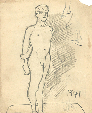 Untitled (Nude) recto; Untitled (Noses) verso